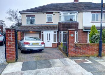 Thumbnail 4 bed semi-detached house for sale in Broxholm Road, St Gabriel's, Heaton, Newcastle Upon Tyne