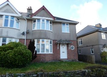 Thumbnail 4 bed semi-detached house for sale in Eastfield Crescent, Plymouth