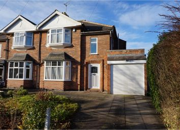 Thumbnail 3 bed semi-detached house for sale in Letchworth Road, Leicester