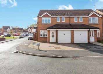 Thumbnail 3 bed semi-detached house for sale in Robinson Close, Darlington, Willington, Durham