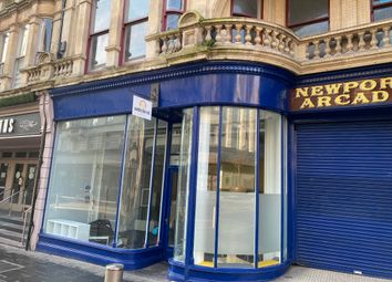 Retail premises to let in High Street, Newport NP20