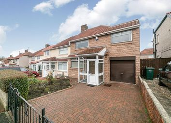 Thumbnail 3 bed semi-detached house for sale in Alwinton Gardens, Lobley Hill, Gateshead