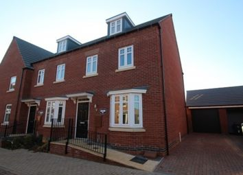 Thumbnail 3 bed town house to rent in Tamworth Close, Barrowby Edge, Grantham