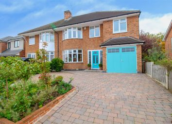 Thumbnail 5 bed semi-detached house for sale in Hall Drive, Chilwell, Nottingham