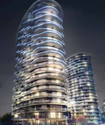 Thumbnail 3 bed flat for sale in Hoola, Royal Docs, London