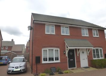 Thumbnail 2 bed semi-detached house for sale in Oak Row, Brixworth, Northampton