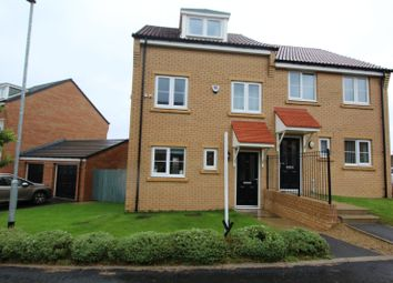 Thumbnail 3 bed semi-detached house for sale in Kirkfields, Sherburn Hill, Durham, Durham