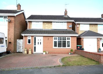 Thumbnail 3 bed detached house for sale in Yarwood Drive, Wrexham