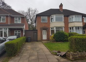 Thumbnail 3 bed semi-detached house to rent in Woodlane, Handsworth Wood, Birmingham