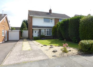 Thumbnail 3 bedroom semi-detached house for sale in Croydon Drive, Penkridge, Stafford