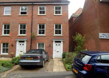 Thumbnail 3 bedroom end terrace house to rent in St. Faiths Lane, Norwich