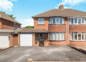 Thumbnail 3 bed semi-detached house for sale in Rowlands Crescent, Solihull, West Midlands