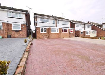 Thumbnail 3 bed semi-detached house for sale in Viking Way, Pilgrims Hatch, Brentwood, Essex
