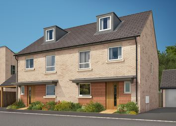 """Thumbnail 4 bedroom semi-detached house for sale in """"The Aslin"""" at Heron Road, Northstowe, Cambridge"""