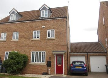 Thumbnail 3 bed semi-detached house to rent in Crowsfurlong, Rugby