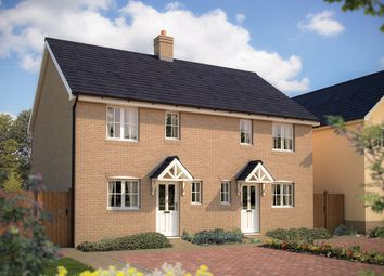 "Thumbnail 3 bedroom semi-detached house for sale in ""The Marston"" at Bannold Drove, Waterbeach, Cambridge"