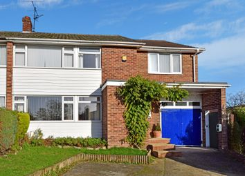 Thumbnail 4 bed semi-detached house for sale in Orchard Close, Woolhampton, Reading