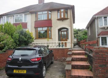 Thumbnail 3 bed semi-detached house to rent in Station Road, Fforestfach, Swansea.