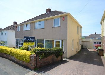 Thumbnail 3 bed semi-detached house for sale in St. Margarets Road, Plymouth, Devon