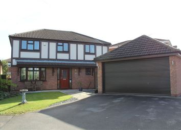 Thumbnail 4 bed detached house for sale in Woodlea Avenue, Lutterworth