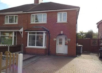 Thumbnail 3 bed semi-detached house for sale in Manor Way, Crewe, Cheshire