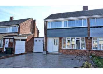 Thumbnail 3 bed semi-detached house for sale in Broadstone Grove, Newcastle Upon Tyne