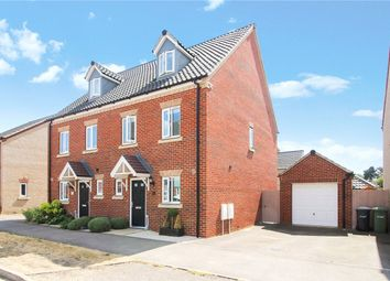Thumbnail 3 bed semi-detached house for sale in Almond Drive, Cringleford, Norwich, Norfolk