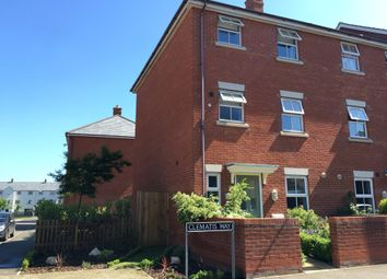 Thumbnail 4 bed end terrace house for sale in Clematis Way, Wymondham