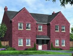 "Thumbnail 4 bed detached house for sale in ""The Brandling"" at Surtees Drive, Willington, Crook"
