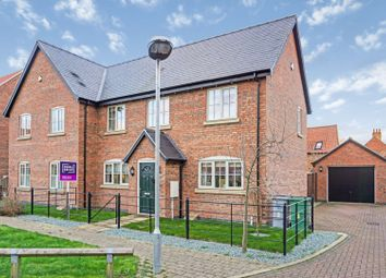 Thumbnail 3 bed semi-detached house for sale in Hickman Grove, Collingham, Newark