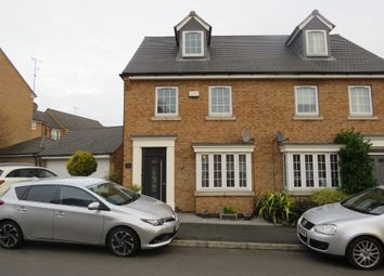 Thumbnail 3 bed semi-detached house for sale in Crackthorne Drive, Rugby