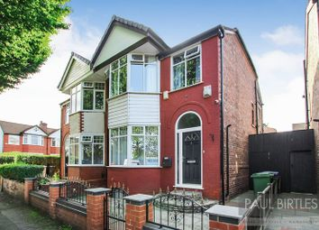 Thumbnail 3 bed semi-detached house for sale in Delamere Avenue, Stretford, Manchester