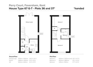 Thumbnail 2 bed end terrace house for sale in Tettenhall Way, Faversham, Kent