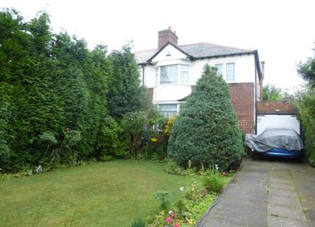 Thumbnail 3 bed semi-detached house for sale in Manor Road, Streetly, Sutton Coldfield