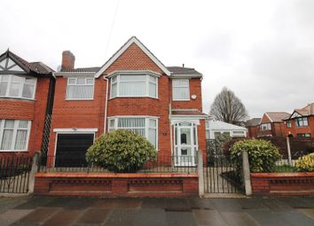 Thumbnail 4 bed detached house for sale in Moss Park Road, Stretford, Manchester