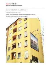 Thumbnail Block of flats for sale in Kreuzberg, Berlin, Brandenburg And Berlin, Germany