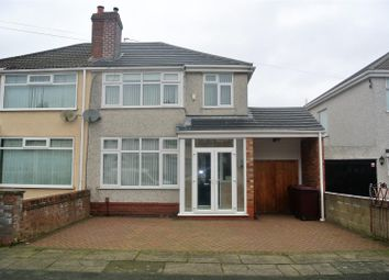 Thumbnail 3 bed semi-detached house for sale in Ashbourne Crescent, Huyton, Liverpool