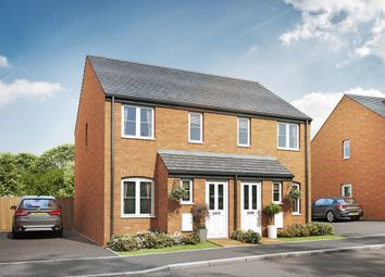 "Thumbnail 2 bed semi-detached house for sale in ""The Alnwick"" at Cranford Road, Kettering"
