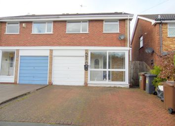 Thumbnail 3 bedroom semi-detached house for sale in Harnall Close, Shirley, Solihull