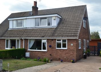 Thumbnail 3 bed semi-detached bungalow for sale in Fir Tree Close, Thorpe Willoughby, Selby