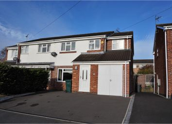 Thumbnail 3 bed semi-detached house for sale in Wren Park Close, Findern, Derby