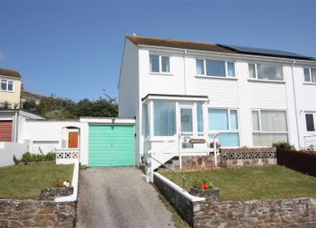 Thumbnail 3 bed semi-detached house for sale in Tredour Road, Newquay