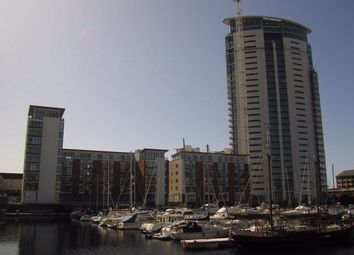 Thumbnail 1 bedroom flat to rent in Meridian Tower, Maritime Quarter, Swansea