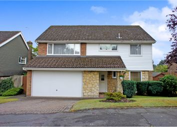 Thumbnail 4 bed detached house for sale in Redcrest Gardens, Camberley