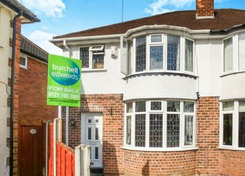 Thumbnail 3 bed semi-detached house for sale in Lighthorne Road, Solihull
