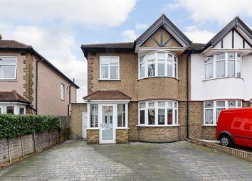 Thumbnail 3 bed semi-detached house for sale in Abbotts Road, Cheam, Surrey
