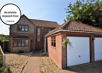 Thumbnail 5 bed detached house to rent in William Bush Close, Cawston, Norwich