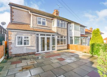 Thumbnail Semi-detached house for sale in Hillfield Drive, Heswall, Wirral