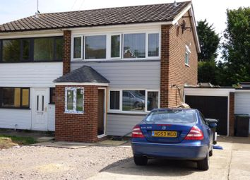 Thumbnail 3 bed semi-detached house to rent in Warren Field, Epping, Essex