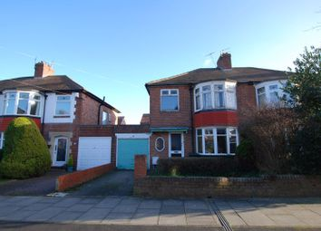 Thumbnail 3 bed semi-detached house for sale in Kingsway Avenue, Gosforth, Newcastle Upon Tyne